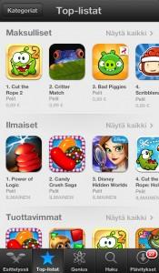 Critter match App store top-listat